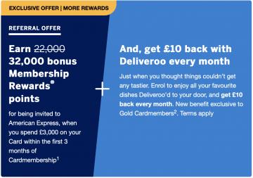 Amex Gold Referral Bonus